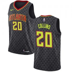 Maillots Collins Atlanta Hawks Homme Icon Edition Nike Noir #20