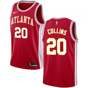Nike NBA Maillot Basket John Collins Atlanta Hawks Statement Edition Rouge No.20 Homme