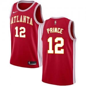 Nike NBA Maillots De Taurean Prince Hawks Rouge Homme No.12 Statement Edition