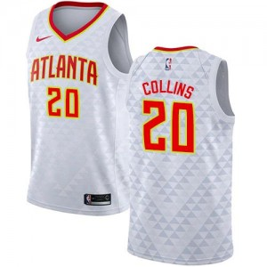 Nike Maillots De Basket John Collins Hawks Enfant No.20 Association Edition Blanc