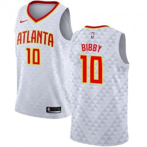 Nike NBA Maillots Bibby Atlanta Hawks No.10 Association Edition Blanc Enfant
