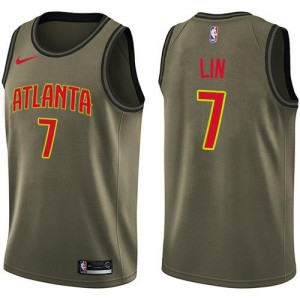 Nike NBA Maillot Jeremy Lin Atlanta Hawks Salute to Service Enfant #7 vert