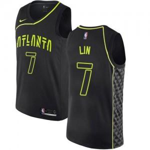 Maillots De Basket Lin Atlanta Hawks Enfant #7 Noir City Edition Nike