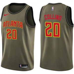 Maillots Basket Collins Atlanta Hawks Salute to Service No.20 vert Nike Homme