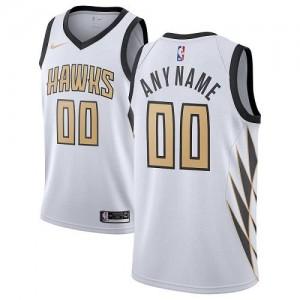 Personnalise Maillot De Basket Atlanta Hawks Homme City Edition Nike Blanc