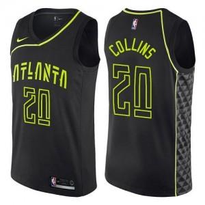 Maillots Basket Collins Atlanta Hawks #20 Enfant Noir City Edition Nike