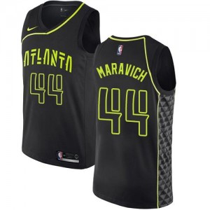 Nike NBA Maillot Maravich Hawks City Edition Enfant No.44 Noir