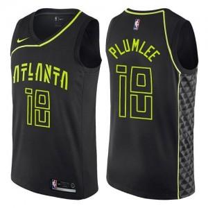 Nike Maillot Miles Plumlee Hawks City Edition Enfant #18 Noir