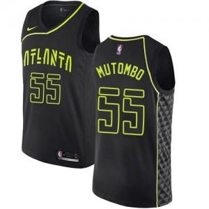 Nike Maillot De Dikembe Mutombo Atlanta Hawks #55 City Edition Noir Enfant