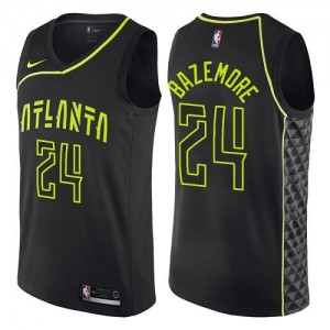 Nike NBA Maillot Bazemore Atlanta Hawks #24 Noir City Edition Enfant