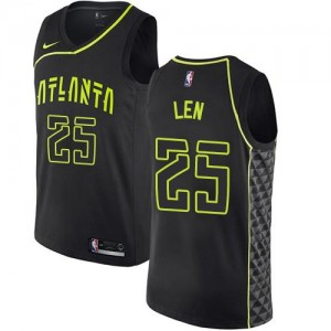 Nike Maillot De Len Hawks City Edition No.25 Noir Enfant