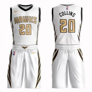 Nike NBA Maillot Basket Collins Atlanta Hawks No.20 Blanc Homme Suit City Edition