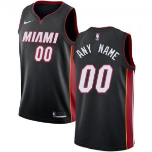 Nike NBA Personnaliser Maillot Basket Miami Heat Noir Icon Edition Homme