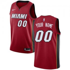 Nike NBA Personnalisable Maillot De Heat Homme Rouge Statement Edition