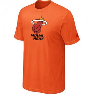NBA T-Shirt Basket Miami Heat Big & Tall Primary Logo Orange Homme