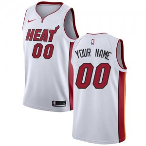 Nike NBA Personnaliser Maillot De Heat Enfant Blanc Association Edition