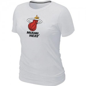 NBA Tee-Shirt Heat Blanc Big & Tall Primary Logo Femme