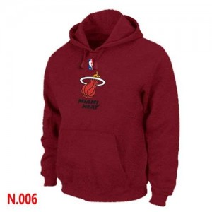Hoodie Miami Heat Pullover Homme Rouge