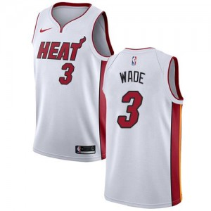 Nike NBA Maillot De Wade Miami Heat Blanc No.3 Enfant Association Edition