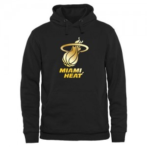 Hoodie Miami Heat Gold Collection Pullover Homme Noir