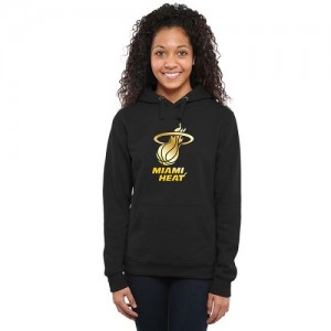 Hoodie Basket Miami Heat Femme Noir Gold Collection Ladies Pullover
