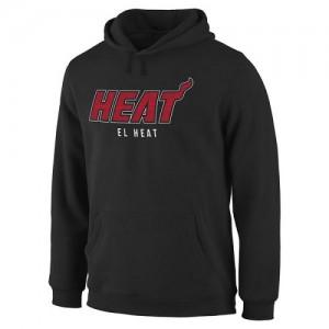 Sweat à capuche Miami Heat Noches Enebea Pullover Homme Noir