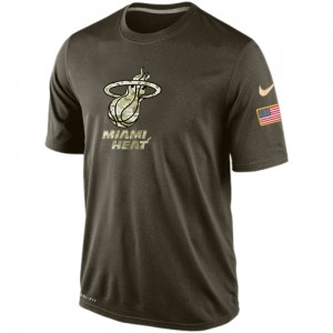 Tee-Shirt Basket Heat Nike Homme Olive Salute To Service KO Performance Dri-FIT