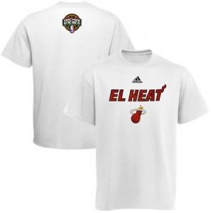 Adidas T-Shirts De Heat Homme Blanc 2014 Noches Enebea