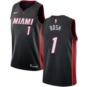 Nike Maillot De Chris Bosh Heat Noir Icon Edition #1 Homme