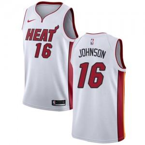 Nike NBA Maillot James Johnson Heat #16 Blanc Association Edition Homme