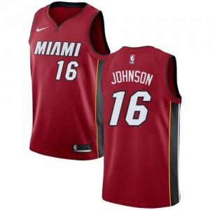 Nike NBA Maillot De Johnson Heat Homme #16 Rouge Statement Edition