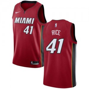 Maillots Basket Glen Rice Miami Heat Statement Edition No.41 Rouge Nike Homme