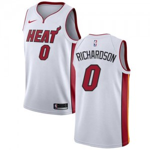 Nike Maillot Basket Richardson Heat No.0 Blanc Association Edition Enfant