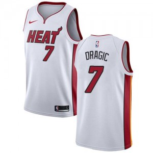 Nike NBA Maillot Basket Dragic Miami Heat Association Edition No.7 Enfant Blanc