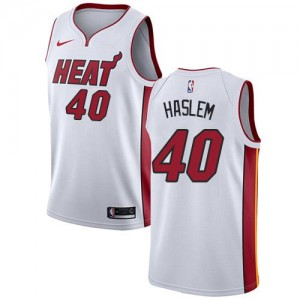 Maillot Basket Haslem Heat Nike Blanc Enfant #40 Association Edition