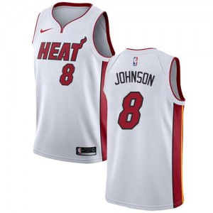 Nike NBA Maillots Tyler Johnson Miami Heat Blanc No.8 Association Edition Enfant
