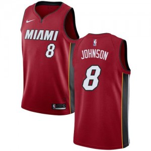 Nike NBA Maillot Johnson Heat Enfant No.8 Rouge Statement Edition