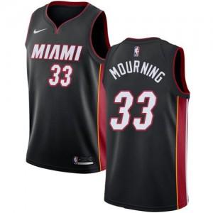Nike NBA Maillots De Basket Alonzo Mourning Heat Noir Enfant Icon Edition No.33