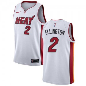 Maillots Basket Wayne Ellington Heat Association Edition Nike Enfant #2 Blanc