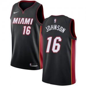 Nike NBA Maillot De Basket Johnson Miami Heat Icon Edition No.16 Noir Enfant