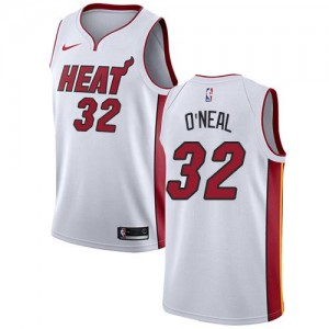 Nike Maillots De O'Neal Miami Heat No.32 Association Edition Enfant Blanc
