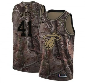 Nike NBA Maillots De Rice Miami Heat Camouflage Homme No.41 Realtree Collection