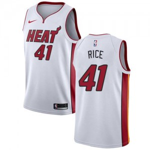 Maillots Basket Rice Miami Heat Enfant Association Edition Blanc #41 Nike
