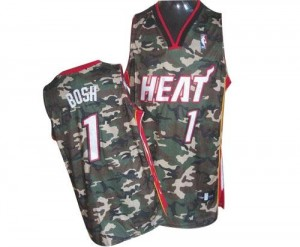 Maillot Basket Chris Bosh Heat Homme Stealth Collection Adidas Camouflage #1