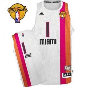 Adidas NBA Maillot Chris Bosh Miami Heat Homme Finals ABA Hardwood Classic Blanc #1