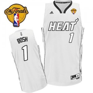 Adidas Maillot Basket Chris Bosh Miami Heat Blanc sur blanc #1 Homme Finals