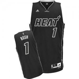 Maillots De Basket Bosh Heat Homme No.1 Adidas Ombre noire