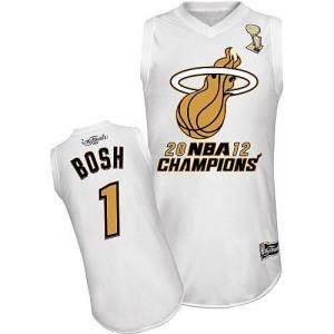 Majestic Maillot Basket Bosh Heat Homme Blanc Finals Champions No.1