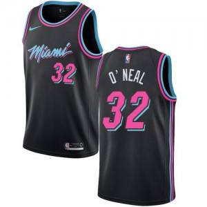 Nike Maillots Basket O'Neal Heat City Edition Noir Enfant No.32