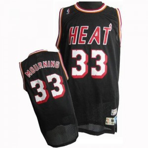 Maillot De Mourning Miami Heat Noir Adidas #33 Throwback Homme